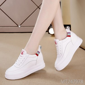 New breathable leather women's shoes flat casual high shoes