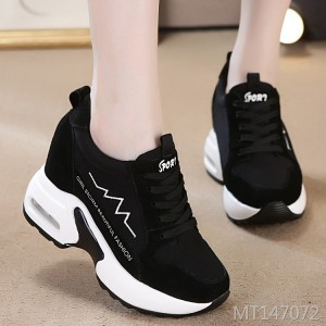 New leather high-elastic lace-up casual shoes