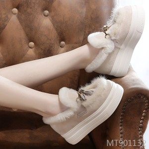 New mane wool warm cotton shoes women increase leisure