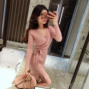 Bright silk bling dress Slim thin straps knit skirt women