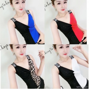 Korean version of the vest wear inside fashion versatile contrast color sling female tide