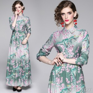 Joker slim slimming positioning print dress