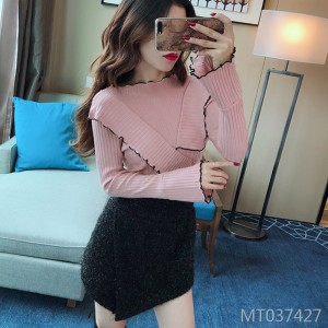 Long Sleeve Sweater Wild Trumpet Sleeve Turtleneck Sweater