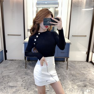 Tight-fitting sweater slim slimming versatile bottoming shirt