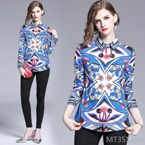 Fashion waist slimming wild positioning printing shirt