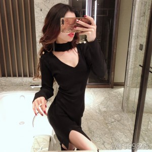 Sexy Halter Slim Slim Waist Knit Dress