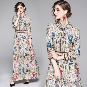 Fashion slim slimming positioning print dress