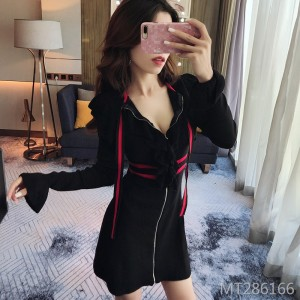 Small fragrance short skirt sexy slim bottoming knit dress female