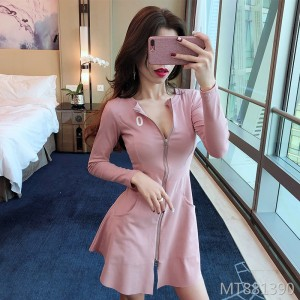 Waist slimming dress female sense chest slim skirt shorts