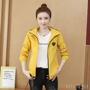 Korean version of the autumn and autumn wild loose hooded casual baseball uniform