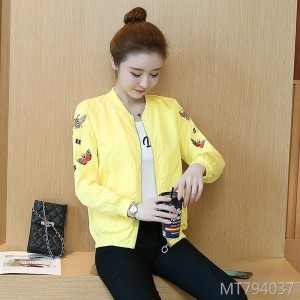 Korean fashion wild women's short embroidered jacket top