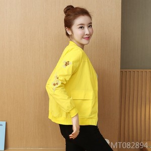 Korean version of the slim fashion embroidery casual collar jacket jacket