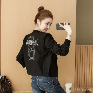 Letter embroidery casual jacket coat female baseball uniform