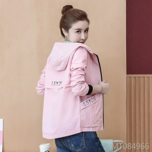 2019 printed letter color matching baseball uniform loose wild jacket top