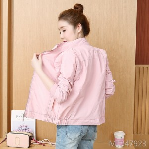 Loose casual long sleeve short jacket jacket female