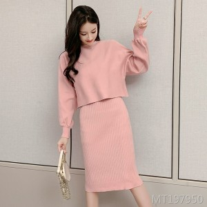 Sling dress suit female early autumn new fashion foreign gas two-piece