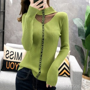 Sweater female autumn and winter bottoming sexy shirt knit bottoming shirt