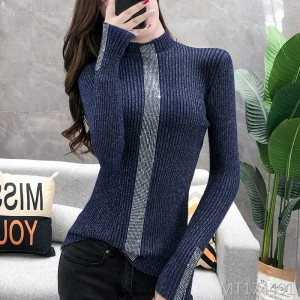 New half-high collar hot drilling bottoming sweater top