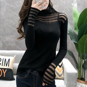 Bottoming shirt autumn and winter fashion was thin 2019 new wave half high collar