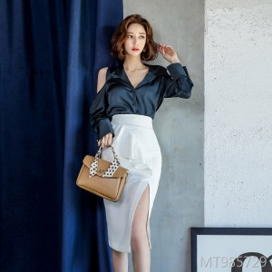 New fashion suit top + skirt