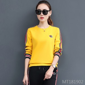 Fashion ladies sweater sportswear processing OEM casual suit