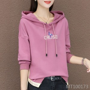 Autumn Korean version of the thin section hooded jacket embroidered long-sleeved shirt