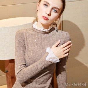 Head trumpet sleeves autumn and winter coat long sleeves foreign shirt