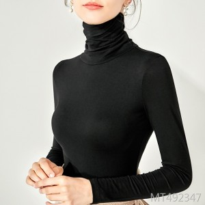 Best selling long-sleeved shirt stretch high-neck slim bottoming shirt