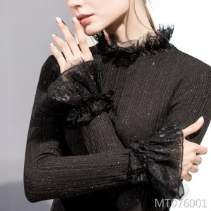 Long-sleeved half-high collar new pullover sweater