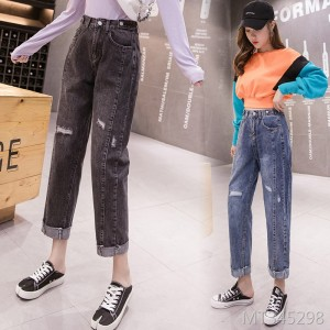 2019 autumn new Korean version of the old pants