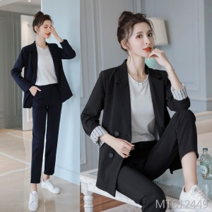 2019 autumn and winter real shot new Korean version of the small suit