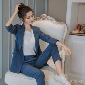 2019 new thick fabric small suit + trouser suit