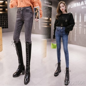 2019 autumn and winter new tight skinny pencil jeans