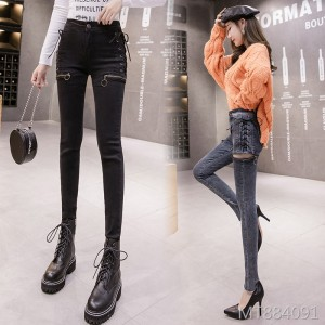 2019 new tight-fitting pencil high-waist slim nine pants
