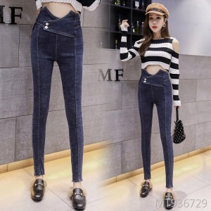 2019 autumn new slim retro tight abdomen pencil pants