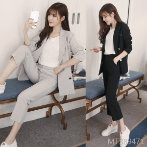 2019 new casual long sleeve suit