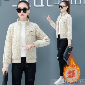 New Korean version of the loose outerwear wild gold velvet thick jacket