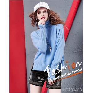 High neck sweater fashion atmosphere loose lazy fan sweater sweater