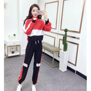 Sweater long sleeve + Hong Kong-flavored sports loose slim pants