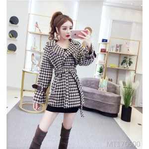 Tie-over coat retro versatile coat