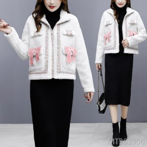 Small fragrance short coat loose wild lamb plush female