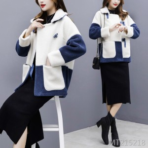 Korean version of the fur one women's lamb fur coat short faux fur