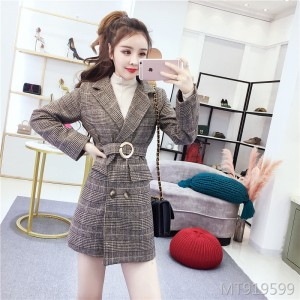 Suit jacket female long shorts woolen suit