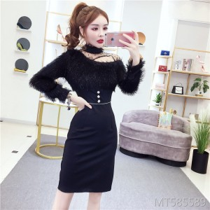 Hepburn style ladies skirt female French