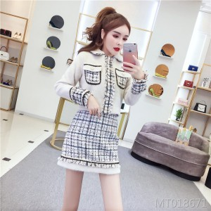 Temperament short jacket half skirt lady small fragrance suit