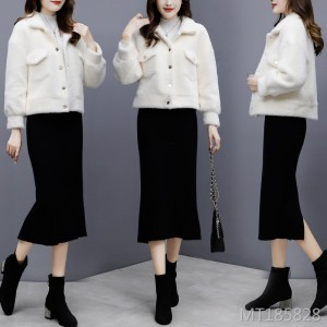 Lamb velvet fur short coat female thick autumn and winter new