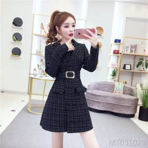 Mid-length coat dress autumn and winter wild