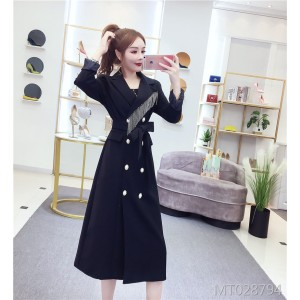 Elegant long coat commuter OL temperament blazer