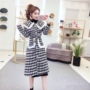 Loose versatile long waist jacket