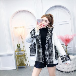 Woolen Coat Women's Coat Korean Loose Western Long Sleeve Joker Top